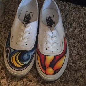 Vans hand painted shoes